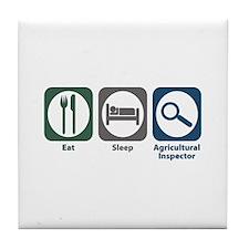 Eat Sleep Agricultural Inspector Tile Coaster