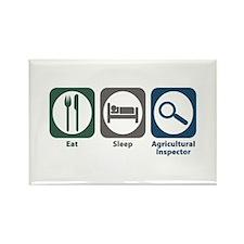 Eat Sleep Agricultural Inspector Rectangle Magnet