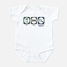 Eat Sleep Agricultural Inspector Infant Bodysuit