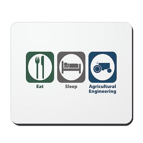 Eat Sleep Agricultural Engineering Mousepad