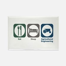 Eat Sleep Agricultural Engineering Rectangle Magne