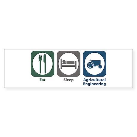 Eat Sleep Agricultural Engineering Sticker (Bumper