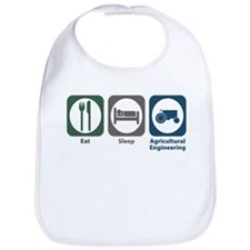 Eat Sleep Agricultural Engineering Bib