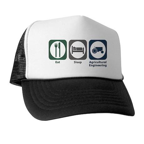 Eat Sleep Agricultural Engineering Trucker Hat