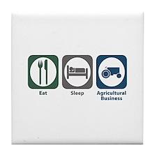 Eat Sleep Agricultural Business Tile Coaster