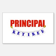 Retired Principal Rectangle Decal