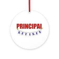 Retired Principal Ornament (Round)