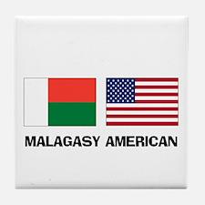 Malagasy American Tile Coaster