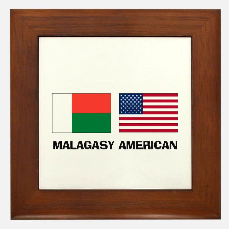 Malagasy American Framed Tile