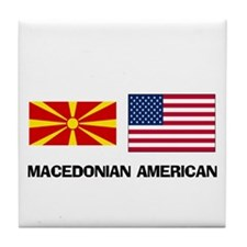 Cute Macedonian food Tile Coaster