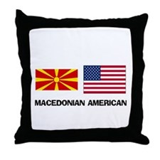 Cute Macedonian food Throw Pillow
