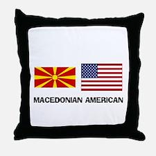 Cute Macedonian food Throw Pillow