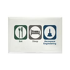Eat Sleep Aerospace Engineering Rectangle Magnet