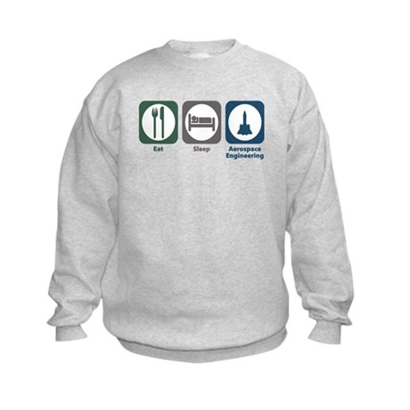 Eat Sleep Aerospace Engineering Kids Sweatshirt