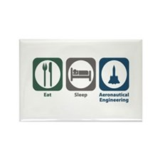 Eat Sleep Aeronautical Engineering Rectangle Magne