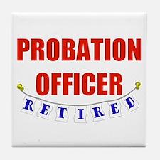 Retired Probation Officer Tile Coaster