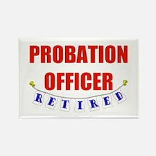 Retired Probation Officer Rectangle Magnet