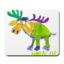 Simon's Friendly Moose Mousepad