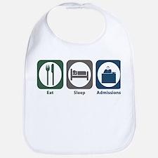 Eat Sleep Admissions Bib