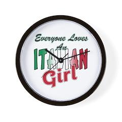 Everyone Loves an Italian Gir Wall Clock