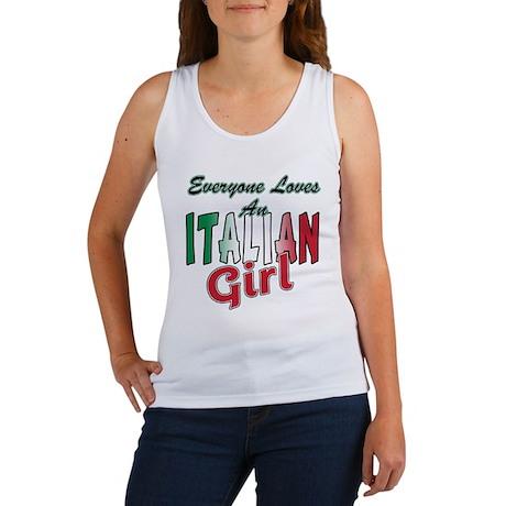 Everyone Loves an Italian Gir Women's Tank Top