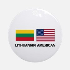 Lithuanian American Ornament (Round)