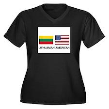 Lithuanian American Women's Plus Size V-Neck Dark
