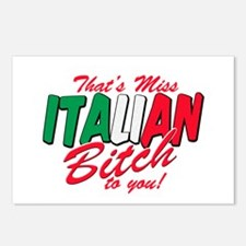 Miss Italian Bitch Postcards (Package of 8)