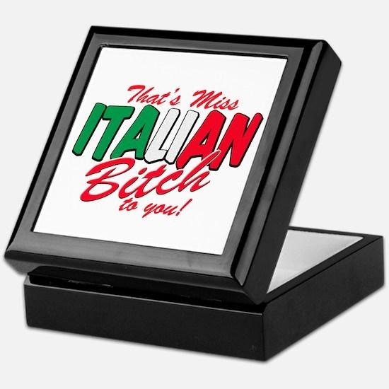 Miss Italian Bitch Keepsake Box