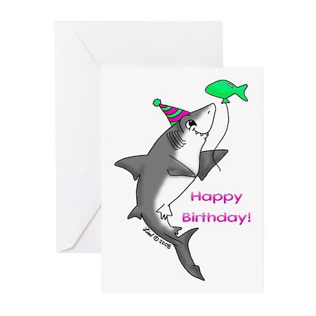 Birthday Shark Greeting Cards (Pk of 20)