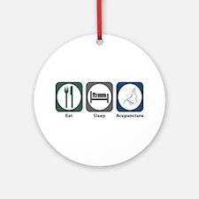 Eat Sleep Acupuncture Ornament (Round)