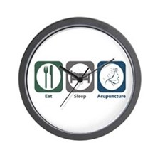 Eat Sleep Acupuncture Wall Clock
