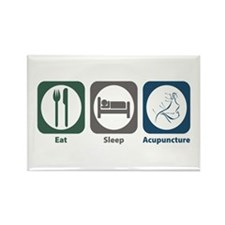 Eat Sleep Acupuncture Rectangle Magnet (100 pack)