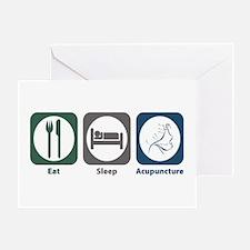 Eat Sleep Acupuncture Greeting Card
