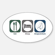 Eat Sleep Acupuncture Oval Decal