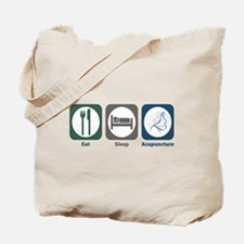Eat Sleep Acupuncture Tote Bag