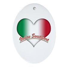 Italian Sweetheart Oval Ornament