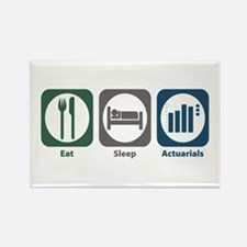 Eat Sleep Actuarials Rectangle Magnet
