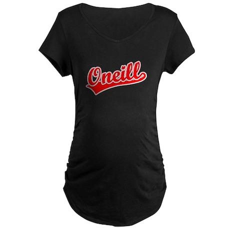 Retro Oneill (Red) Maternity Dark T-Shirt