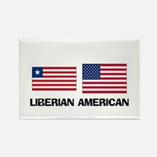 Liberian American Rectangle Magnet