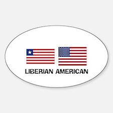 Liberian American Oval Decal