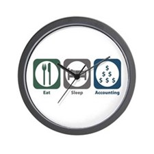 Eat Sleep Accounting Wall Clock