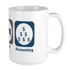 Eat Sleep Accounting Ceramic Mugs