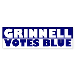 Grinnell Votes Blue (bumper sticker)