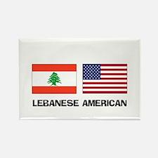 Lebanese American Rectangle Magnet