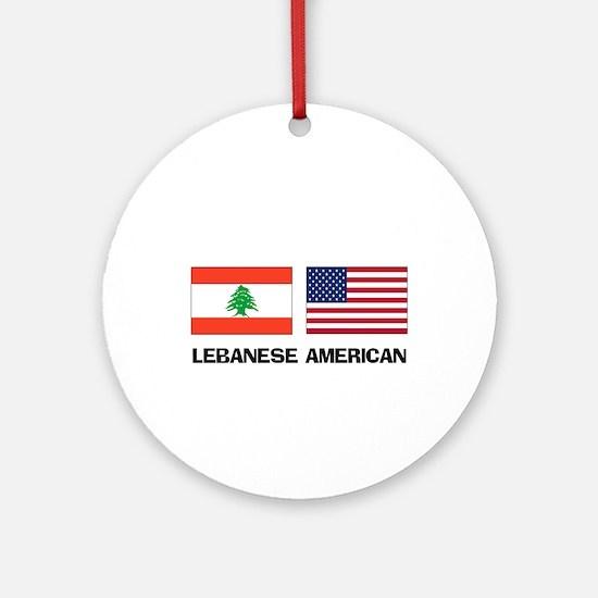 Lebanese American Ornament (Round)