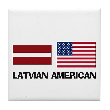 Latvian American Tile Coaster