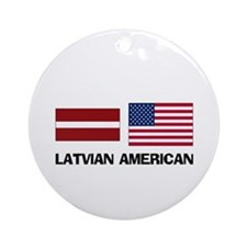 Latvian American Ornament (Round)