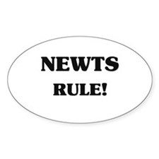 Newts Rule Oval Decal