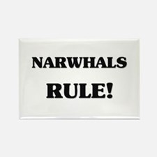Narwhals Rule Rectangle Magnet
